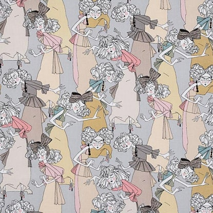 Alexander Henry A Ghastlie Casting Fabric -8716A (Grey)