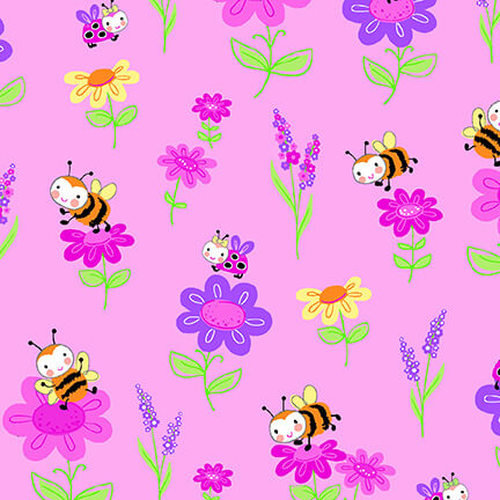 Bumble Bee Flannel CMFY-0796-22 By AE Nathan Co.