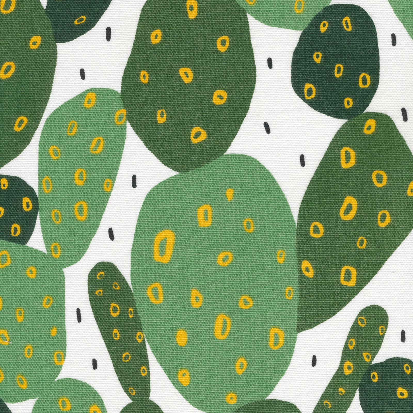 Cloud9 Fabrics Organic Cotton Duck Wildlife Cactus White/Green 225301