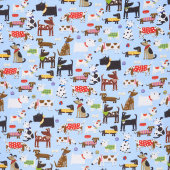 Doggy Flannel CMFY-N-0970-11 by AE Nathan Co.