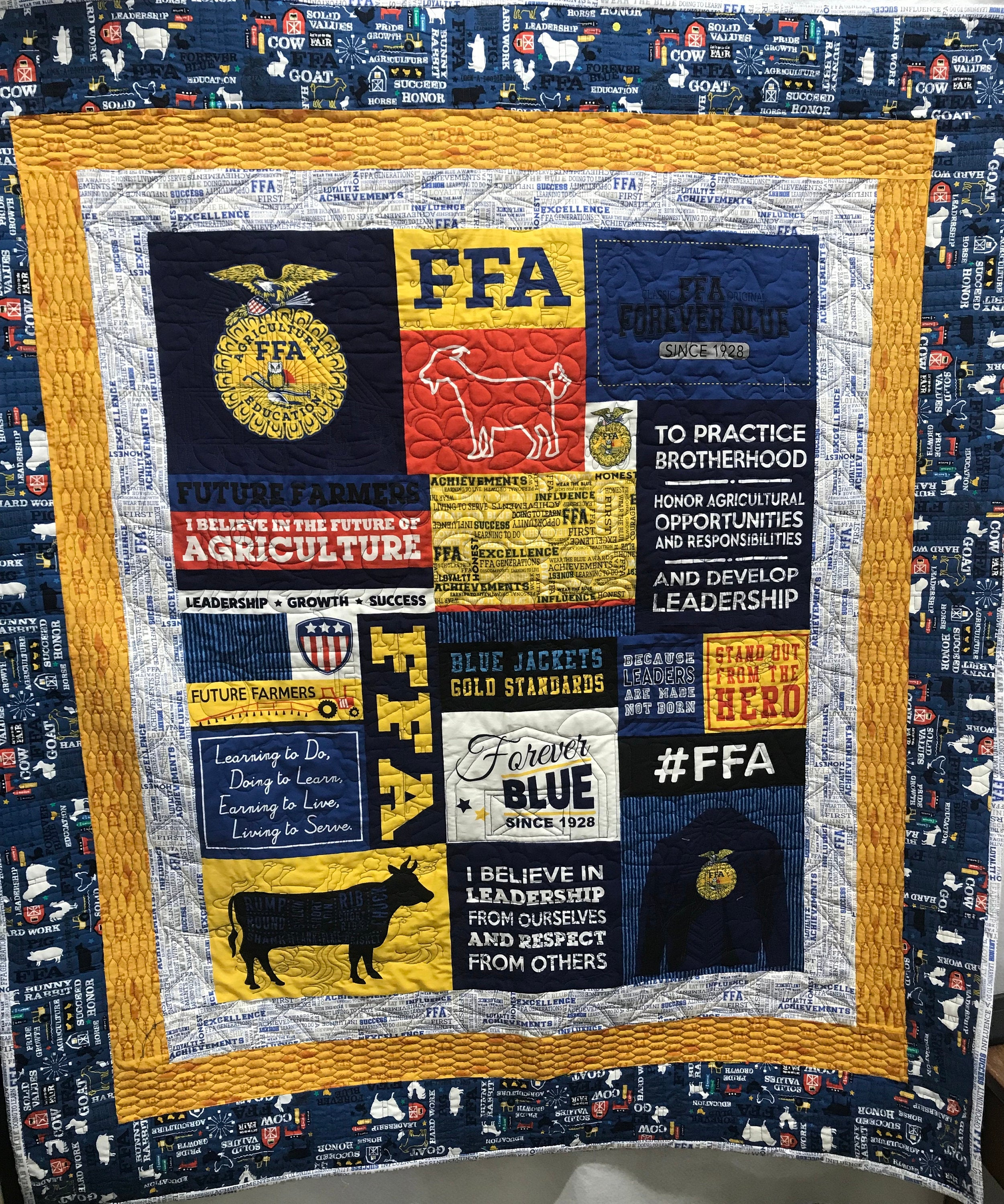 FFA Forever Blue Quilt