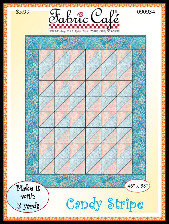Floral Candy Stripe 3 Yard Quilt Kit #5001