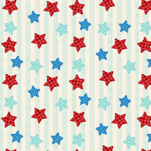 Little Red Barn Stars and Stripes By Studio E