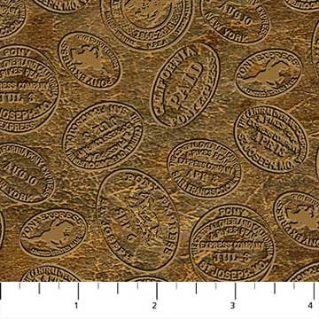 Northcott Pony Express Coins Cotton Quilting Fabric 21836