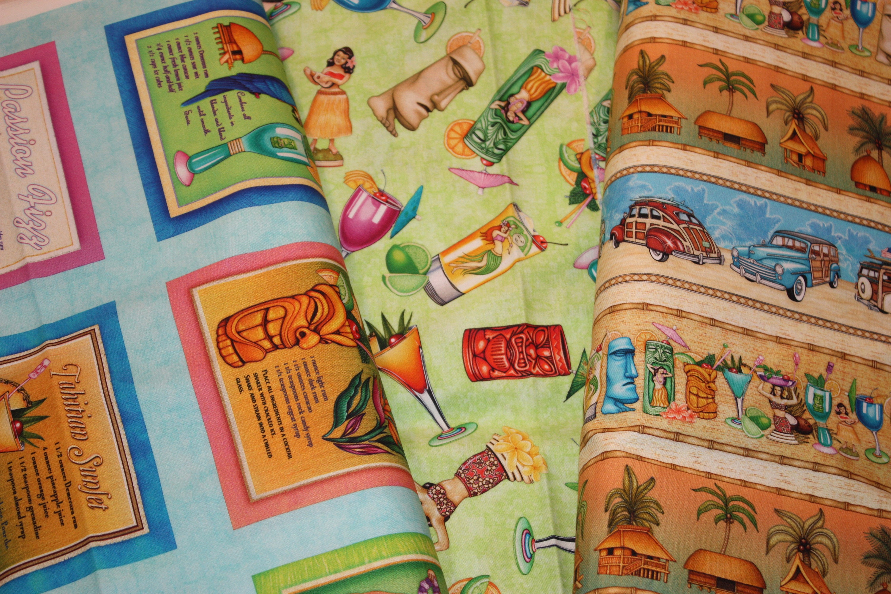 Postcards From Paradise by Dan Morris 27727 X Decorative Stripe By QT Fabrics