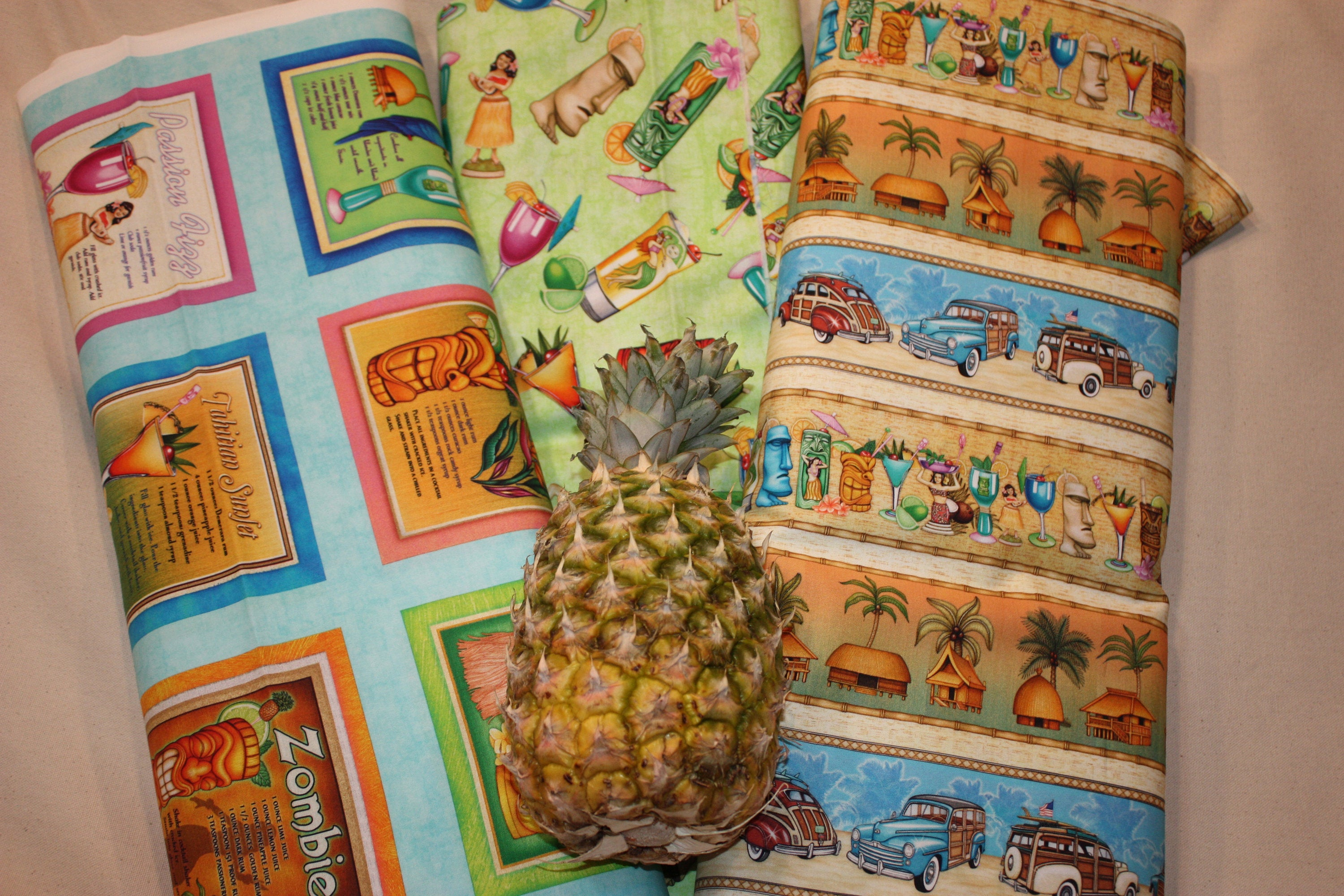 Postcards from Paradise Tropical Drinks 27730-H By QT Fabrics