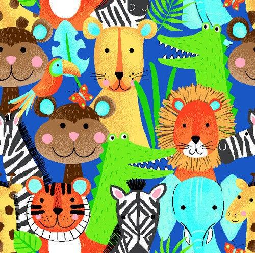 Safari Animal Flannel CMFY-0907-77 By AE Nathan Co.