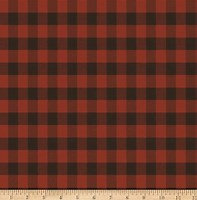 Winter Playground Buffalo Plaid Dk Red Y2768-83 Dan DiPaolo