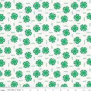 4-H Clover Fabric By Riley Blake C9121 Cream