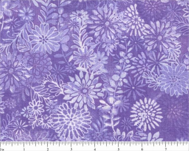 Choice Fabric Wide 108 Tonal Floral Quilt Backing Fabric - Light purple BD-48382-400