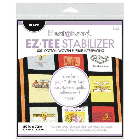 HeatnBond EZ Tee Stabilizer BLACK 60in x 72 in