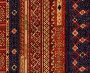Hoffman Fabrics - Mandalay-Metallic Cayenne/Gold m7406