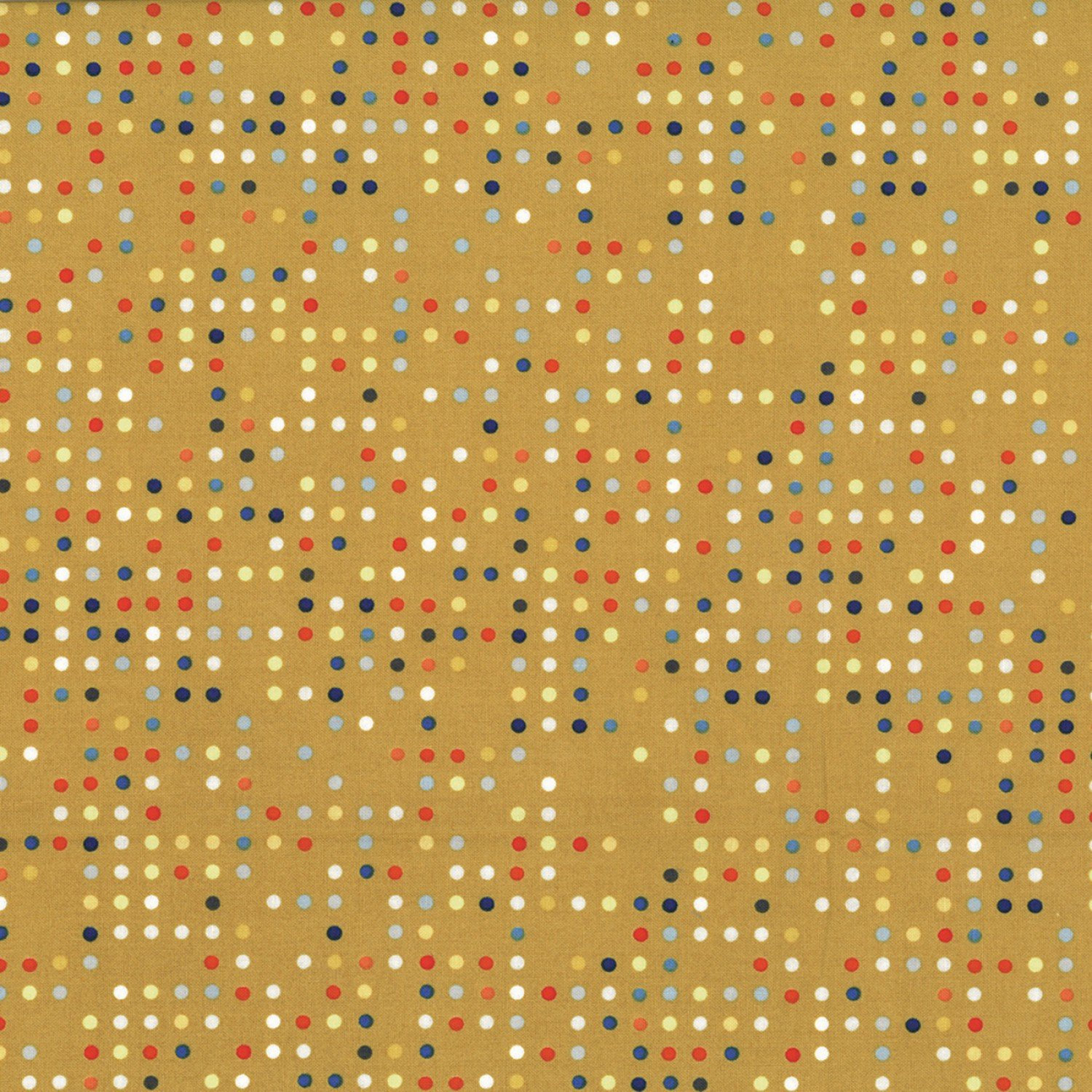 Hoffman Fabrics Double Dutch Mustard Candy Dots