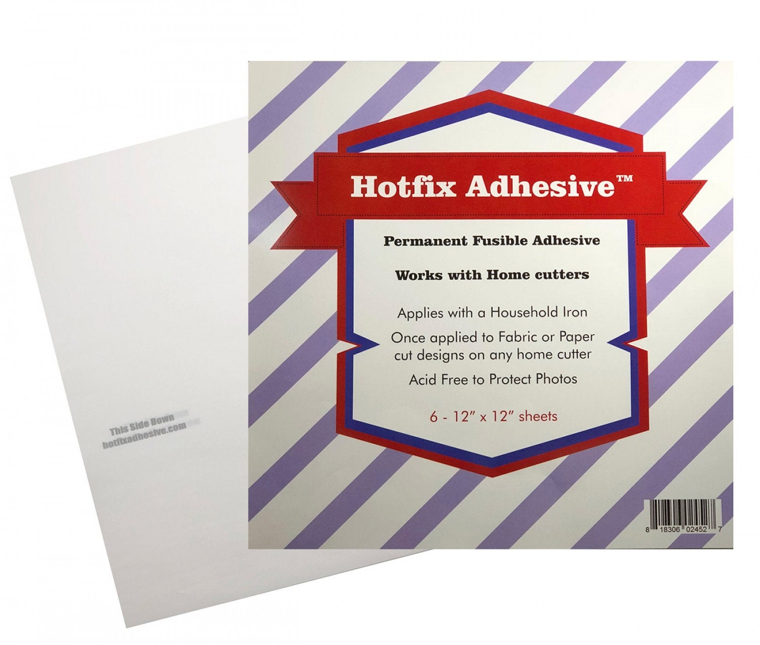 Hotfix Fabric to Fabric Adhesive 12in x 12in 6pk