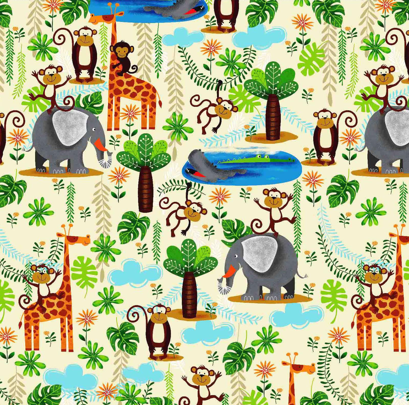 Jungle Fun Flannel By Oasis Fabrics