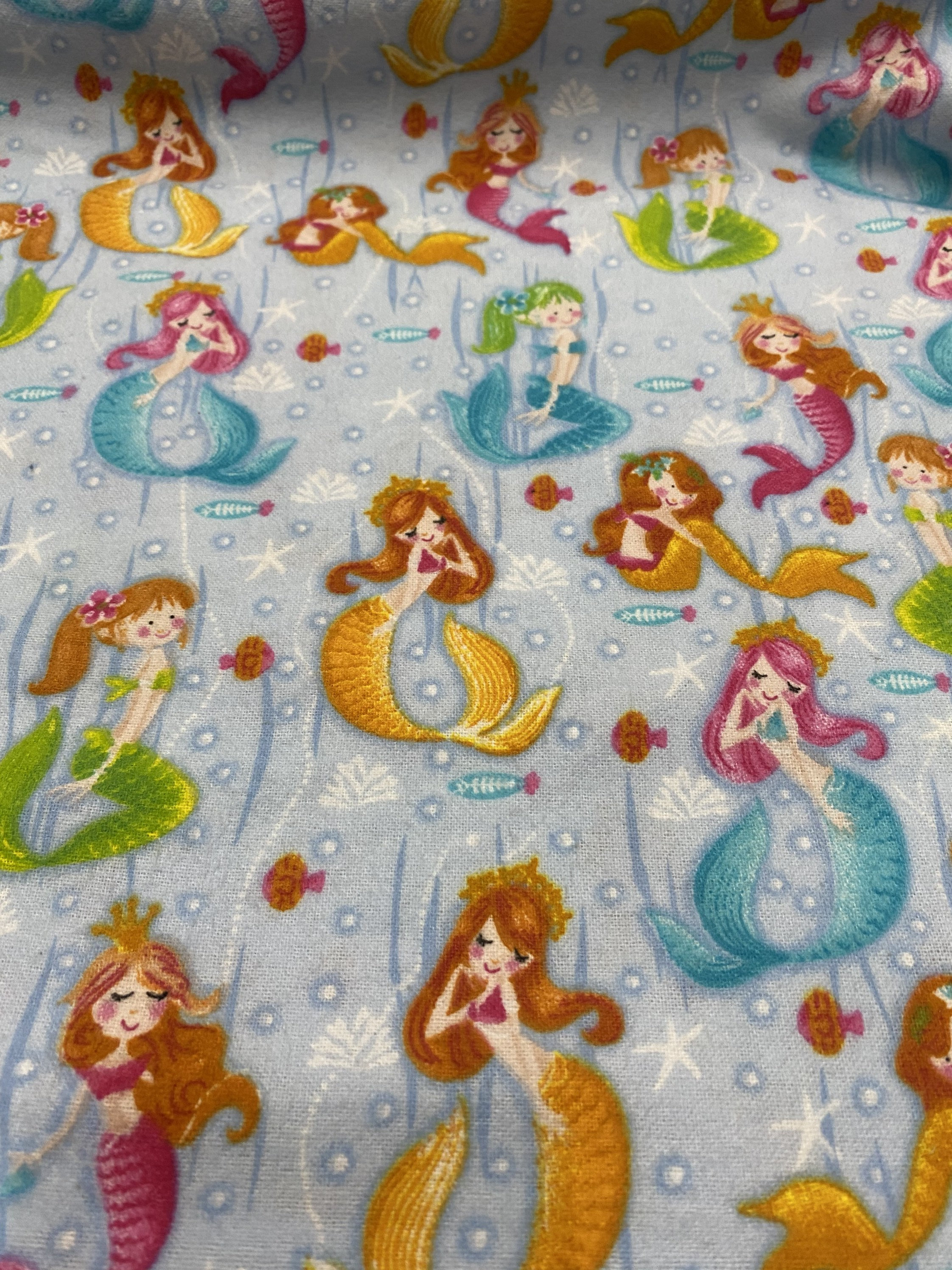 Mermaid Flannel By Oasis Fabric