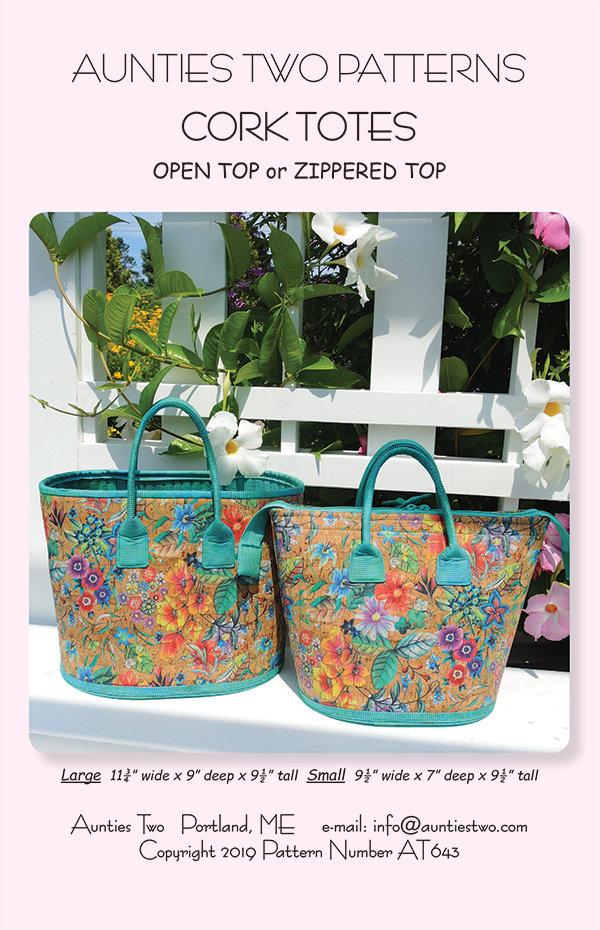 Moda Cork Fabric 18x15 Flower Print with Bag Pattern