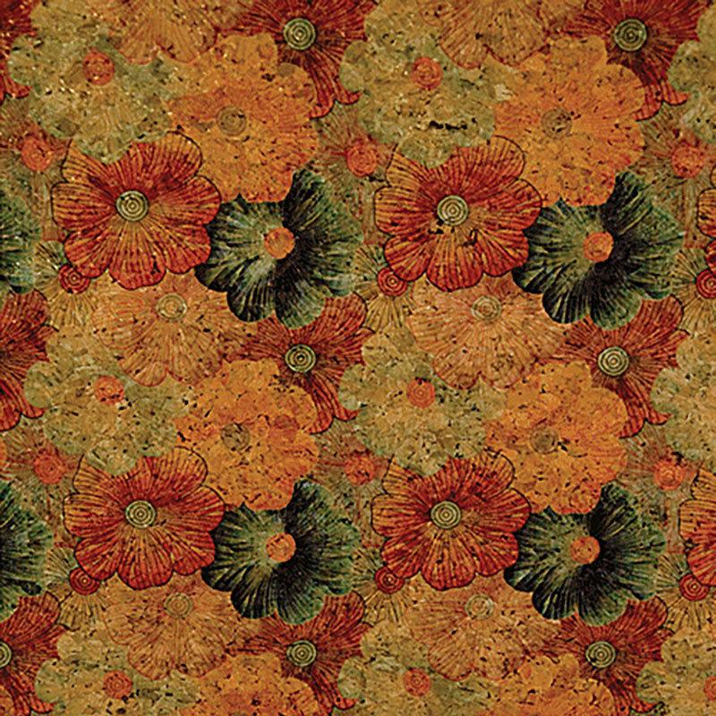 Moda Cork Fabric, PRECUT 18 x 15 Floral