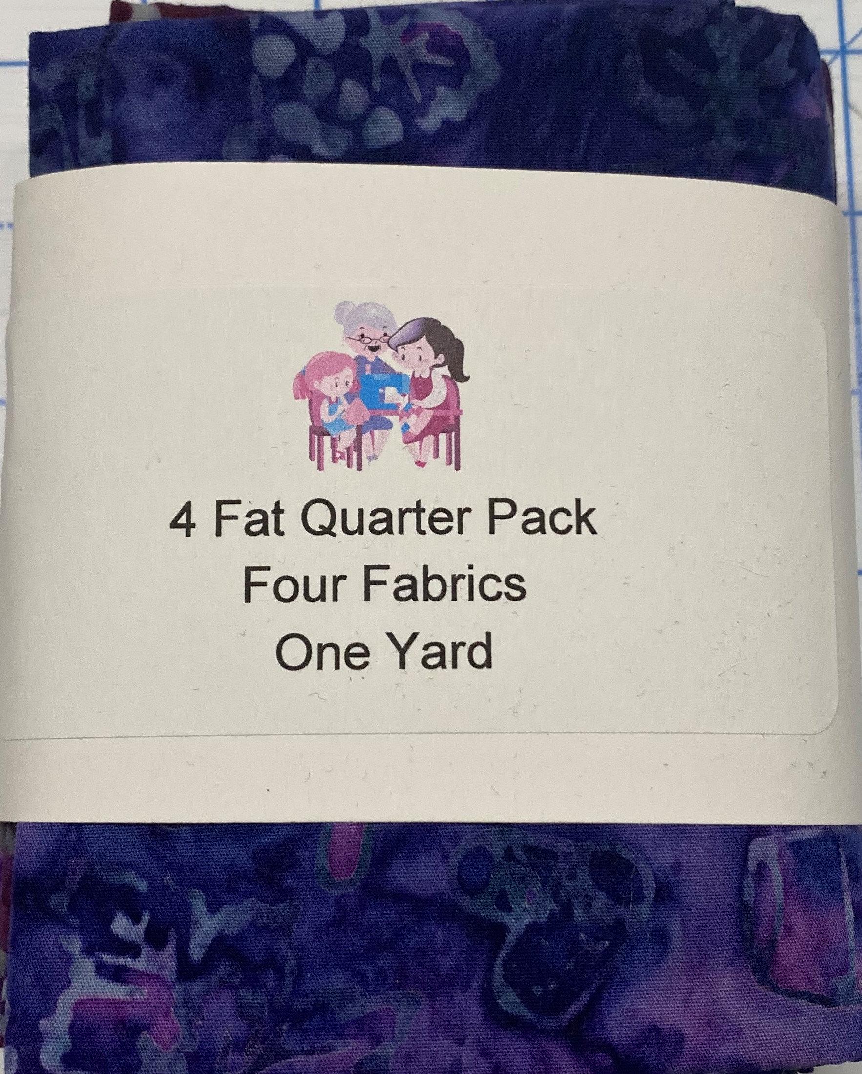 Northcott Banyan Batiks Fat Quarter Bundle 1 (4 fat Quarters)