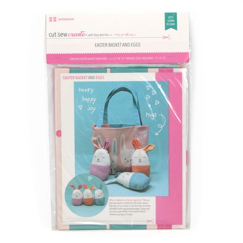 Cut Sew Create Easter Basket and Eggs Kit By Moda