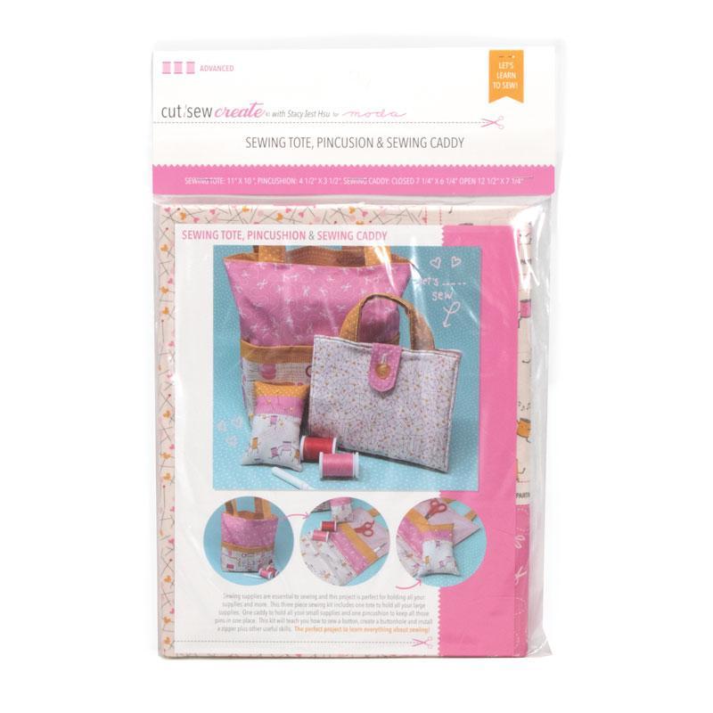 Cut Sew Create Sewing Tote, Pincushion & Sewing Caddy Kit By Moda