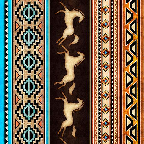 Last Call - Southwest Decorative Stripe Fabric