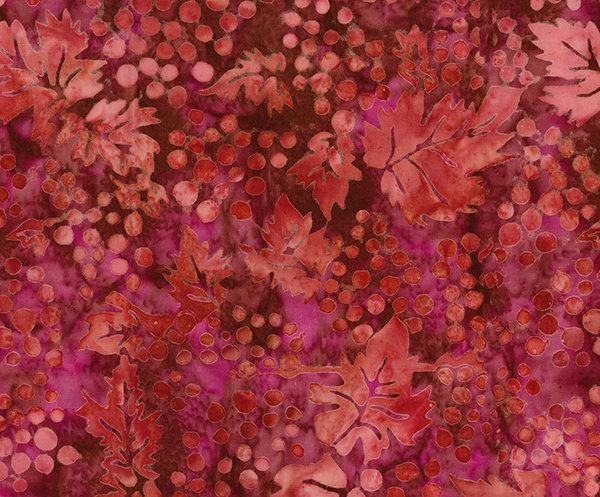 Northcott Banyan Batiks Vino Fabric Sangria Grapes with Leaves 80225-25