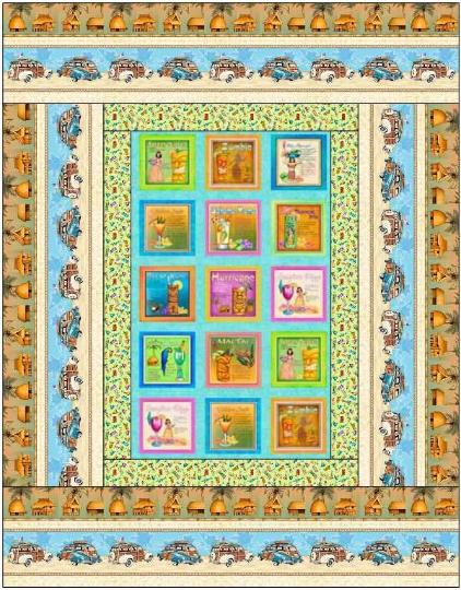 Postcard Panel Quilt Kit 50x64