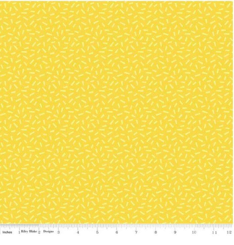 Riley Blake Harmony Farm Yellow fabric
