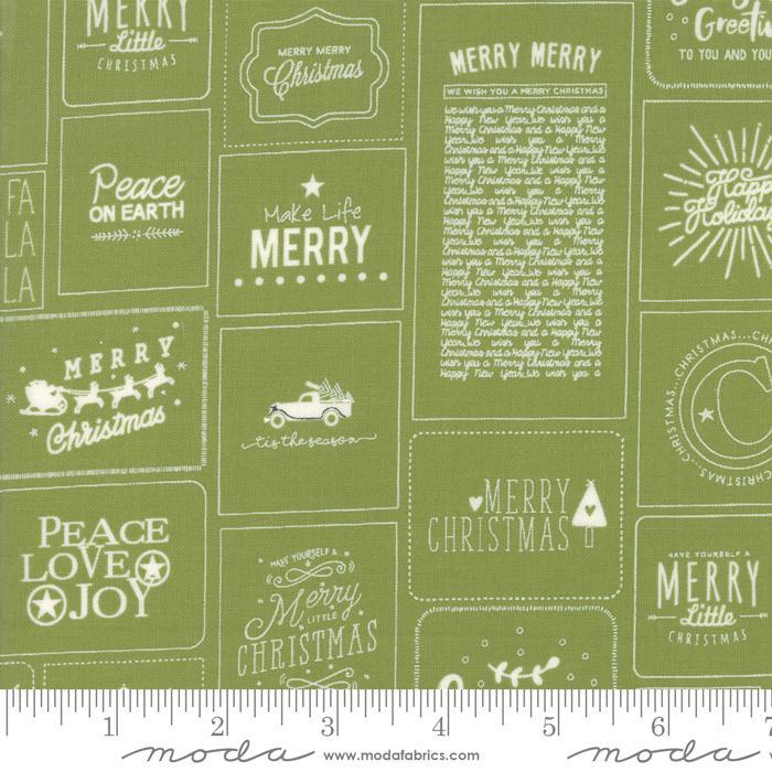 The Christmas Card Cards Green 5770 22 Moda