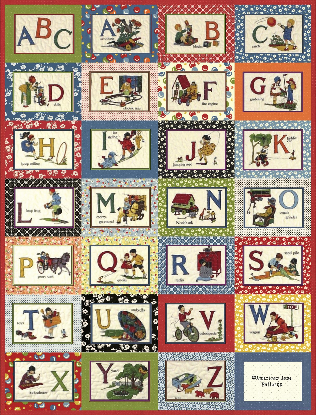 Moda Its Elementary ABC Quilt Kit By American Jane Patterns