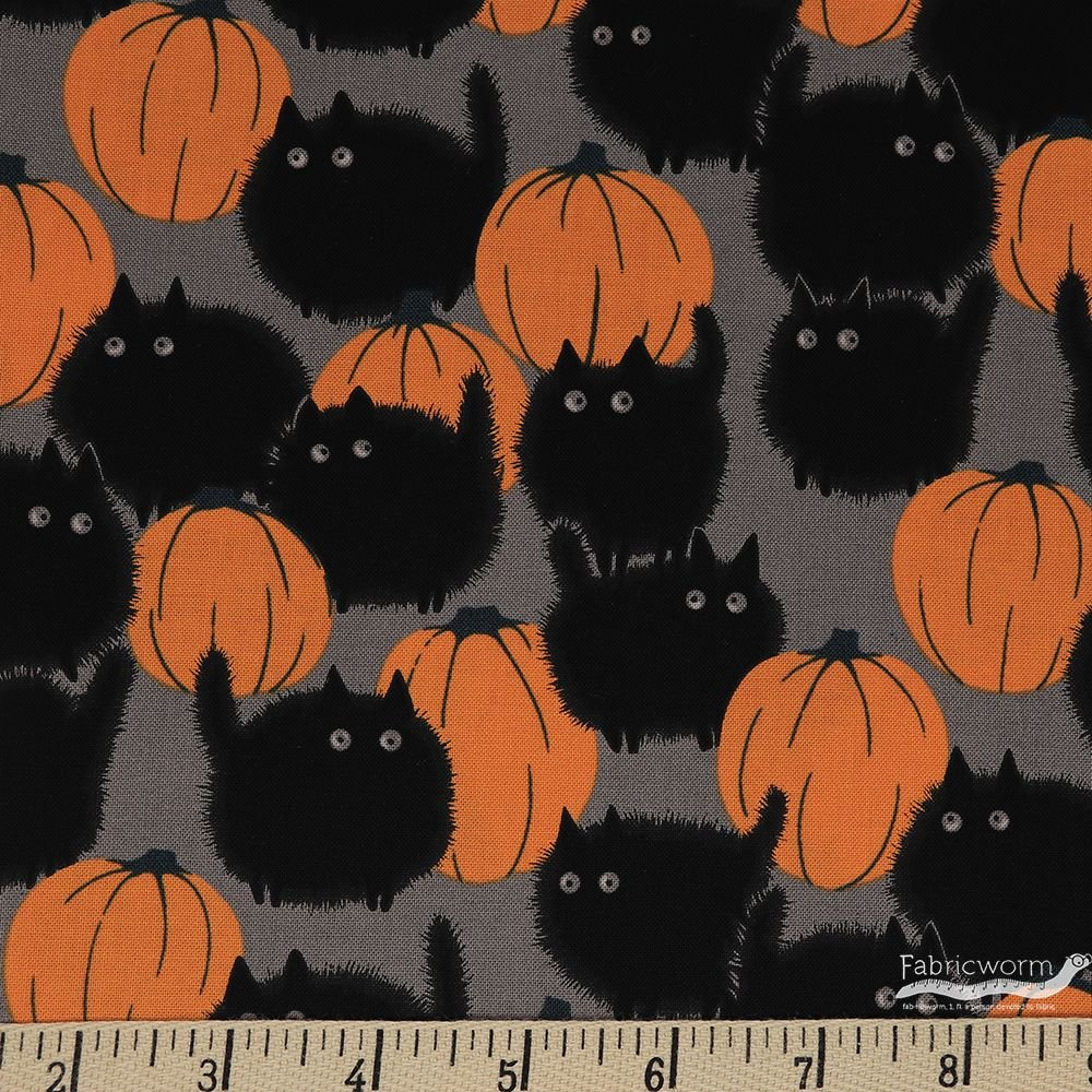Belinda's Big Kitty Alexander Henry Halloween Cotton Fabric