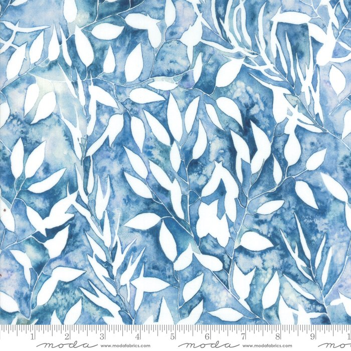 Brightly Blooming Blue 8431 12D Blue Botanical by Moda Fabrics