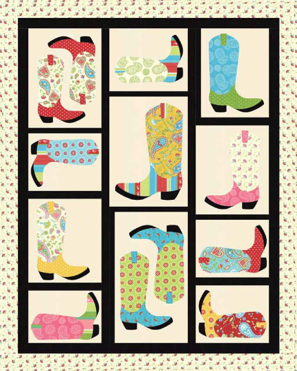 Caravan Cowboy Boot Quilt Kit