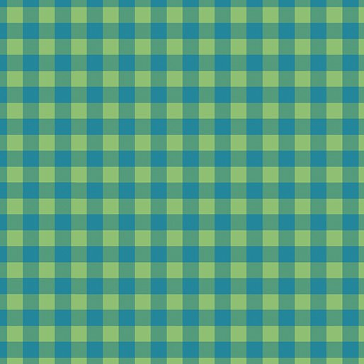Contempo Warp & Weft Premium Yarn Dyes Check Plaid Blue/Green Fabric