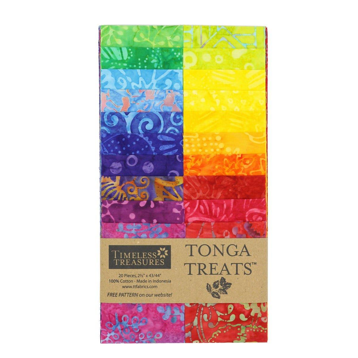 Timeless Treasures Tonga Treat Strip Jr  Dazzle