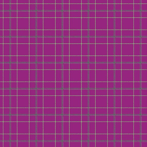 Contempo Warp & Weft Premium Yarn Dyes Double Plaid Magenta Fabric