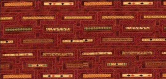Cayenne/Gold by Hoffman Fabrics M7407