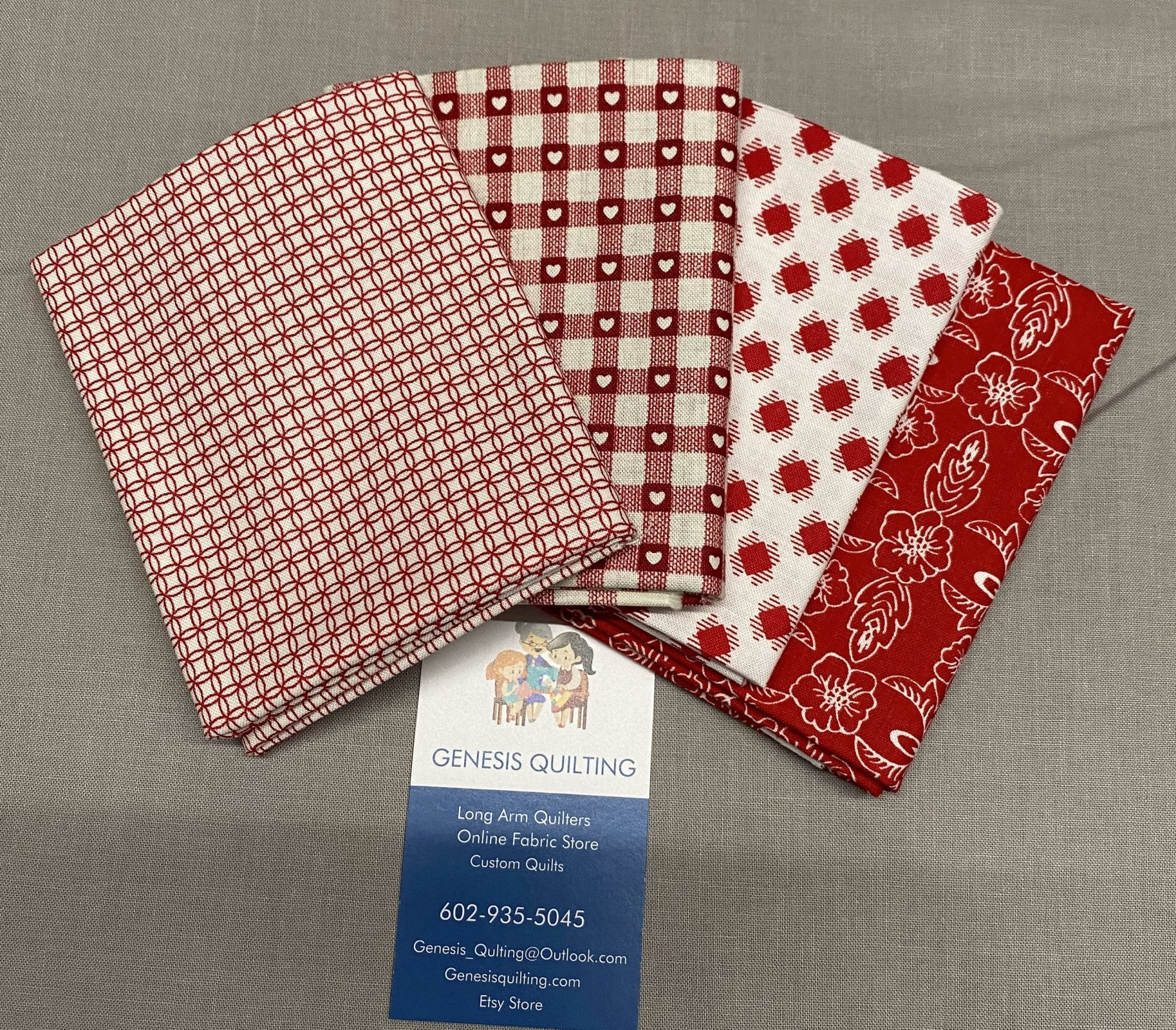Red and White Fat Quarter Bundle #103