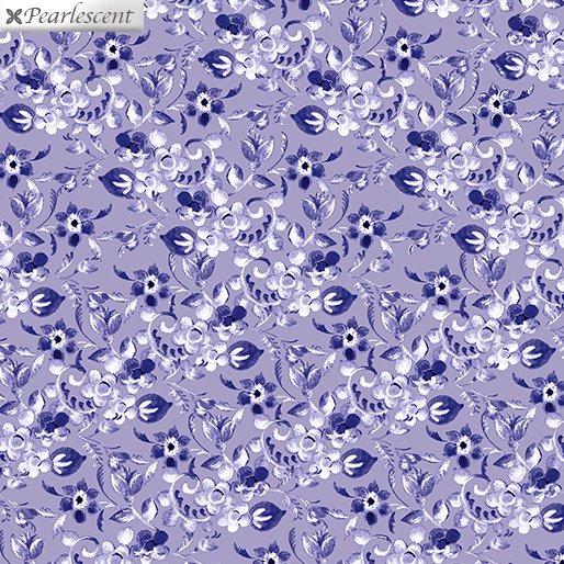 Floral Arabesque Lilac 7925P-60 Violet Twight Collection By Benartex Fabrics