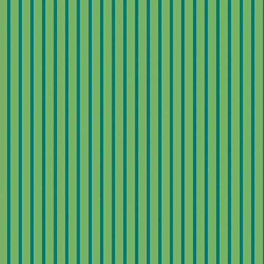 Contempo Warp & Weft Premium Yarn Dyes Green Stripe Green Fabric