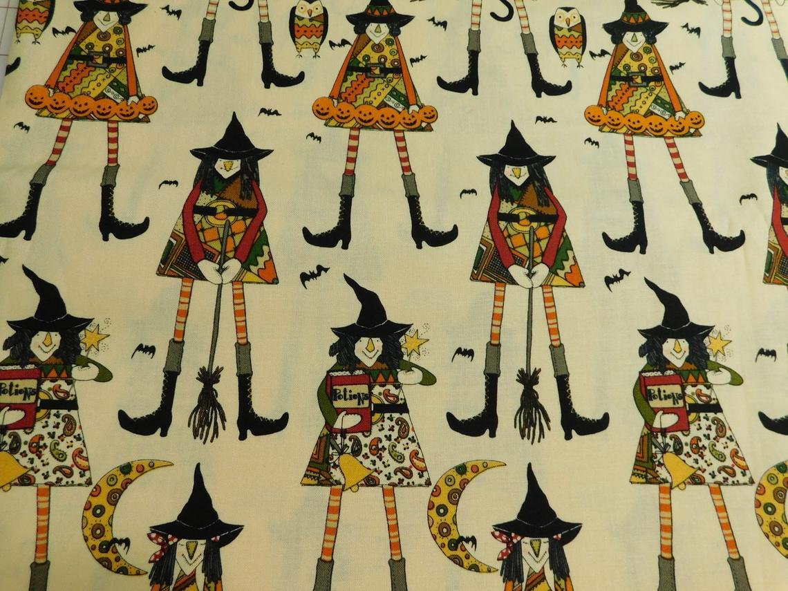 Witches in Stitches Alexander Henry Halloween Cotton Fabric