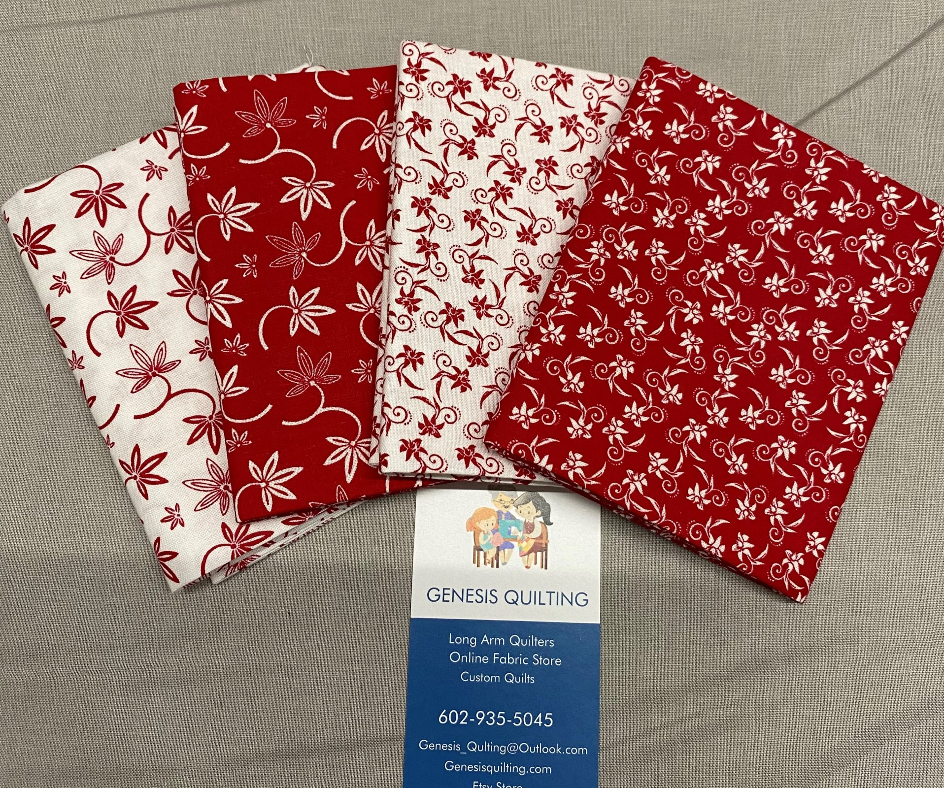 Red and White Fat Quarter Bundle #102