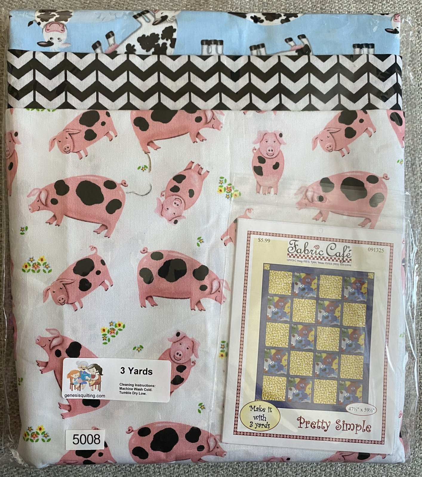 This Little Piggy and His Friend 3 Yard Quilt 5008