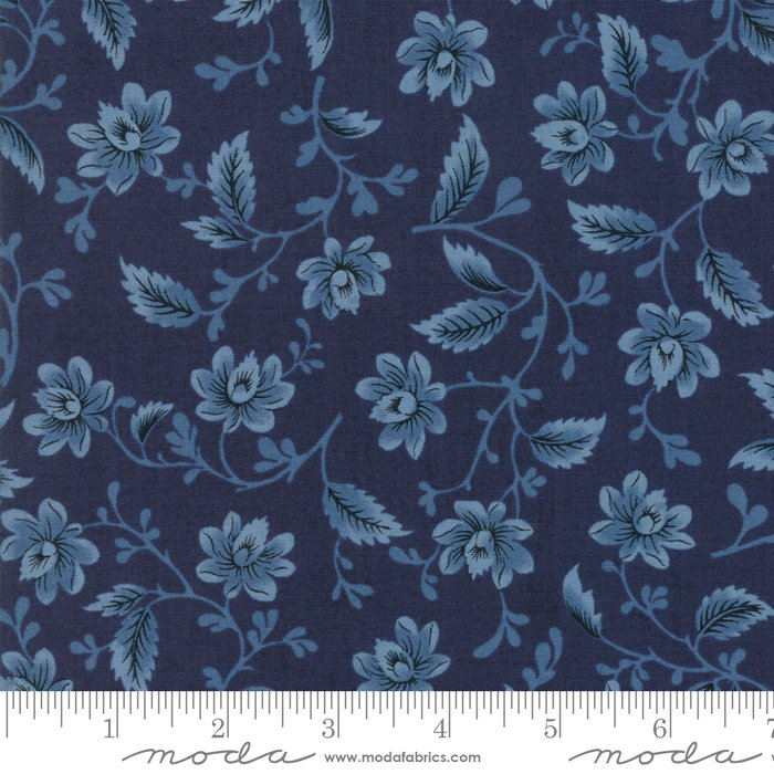 Nancys Needle Indigo Fabric 31600 17 Moda