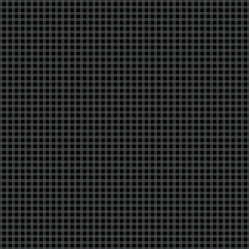 Contempo Warp & Weft Premium Yarn Dyes Mini Gingham Black Fabric
