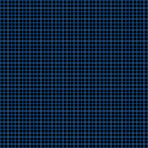 Contempo Warp & Weft Premium Yarn Dyes Mini Gingham Blue Fabric