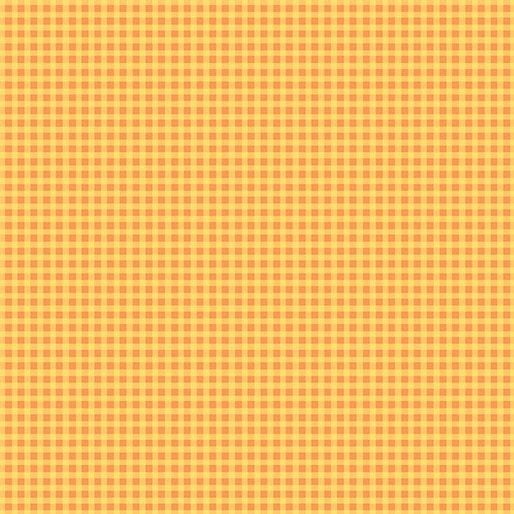 Contempo Warp & Weft Premium Yarn Dyes Mini Gingham Orange Fabric