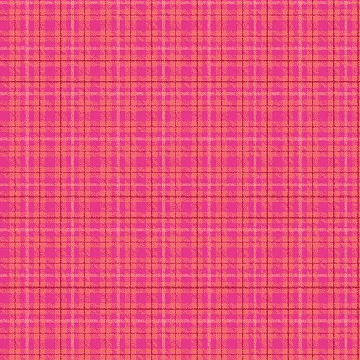 Contempo Warp & Weft Premium Yarn Dyes Multi Plaid Hot Pink Fabric