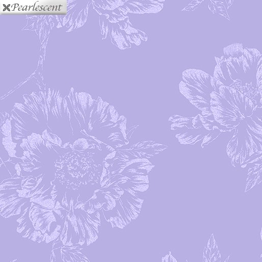 Pearl Shadow Flowers Lilac 7922P-60 Violet Twight Collection By Benartex Fabrics